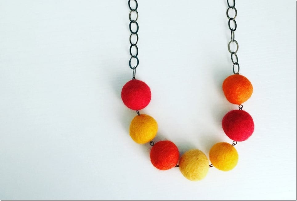 orange-red-yellow-pom-pom-chain-necklace