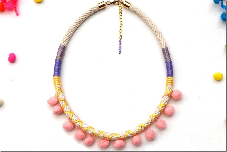 pastel-pink-pom-pom-necklace