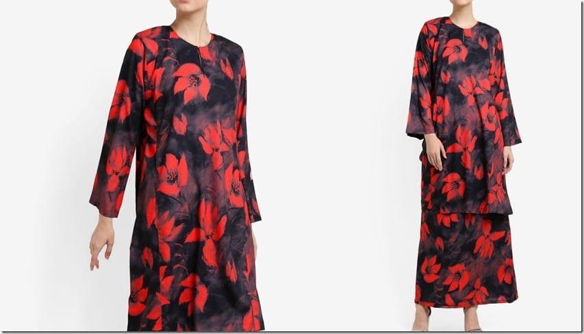 red-floral-print-mod-kurung-pahang