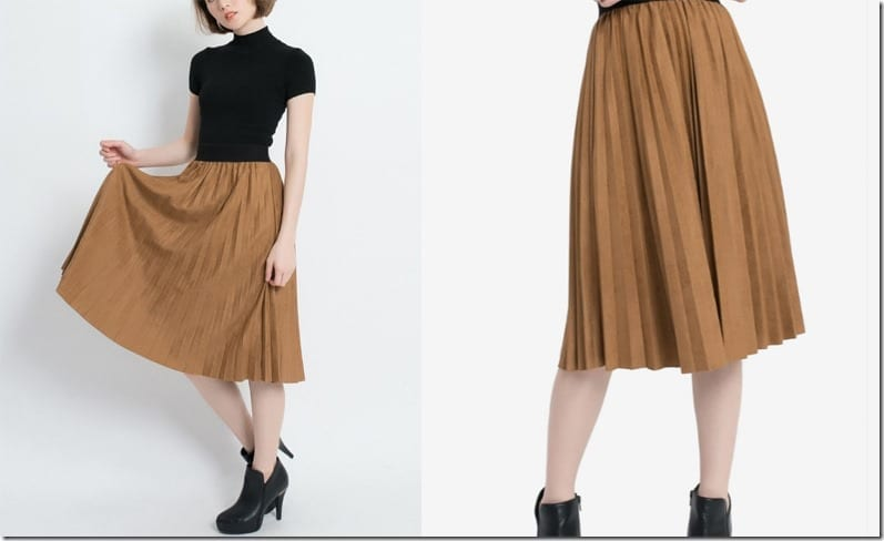 retro-brown-midi-pleated-skirt