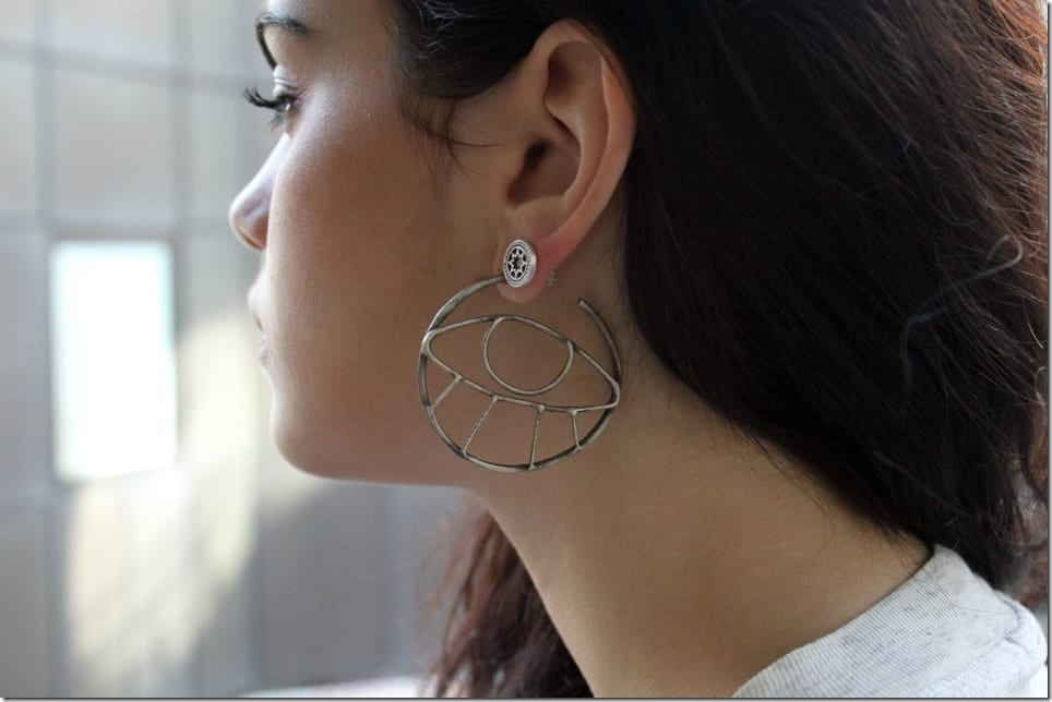 Up Your Ear Bling Game With These Unusual Statement Hoop Style Earrings