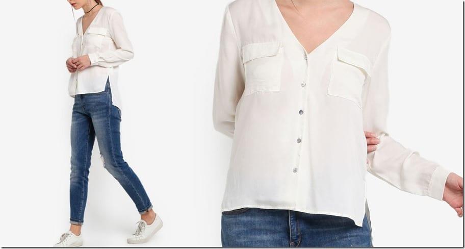 white-flap-pocket-blouse