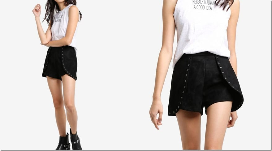 black-eyelet-overlay-shorts