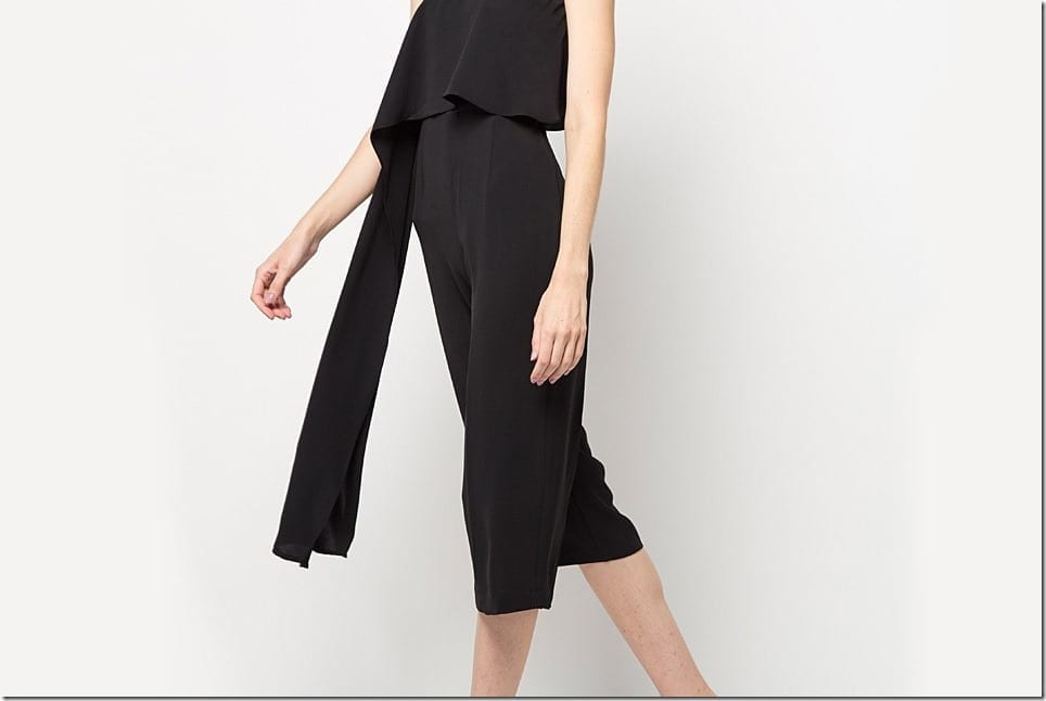 Black Midi Jumpsuit Styles To Ooze Relaxed Chic Vibes