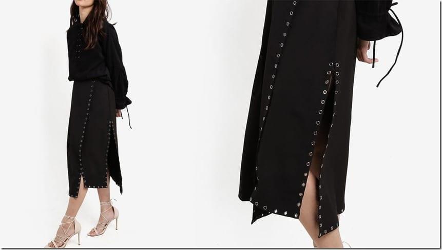 black-side-slit-eyelet-midi-skirt