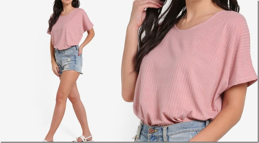 casual-pink-short-sleeve-top