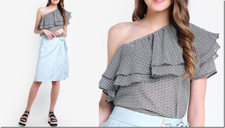 one-shoulder-gingham-ruffle-top