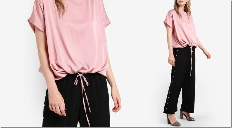 pink-drawstring-hem-top
