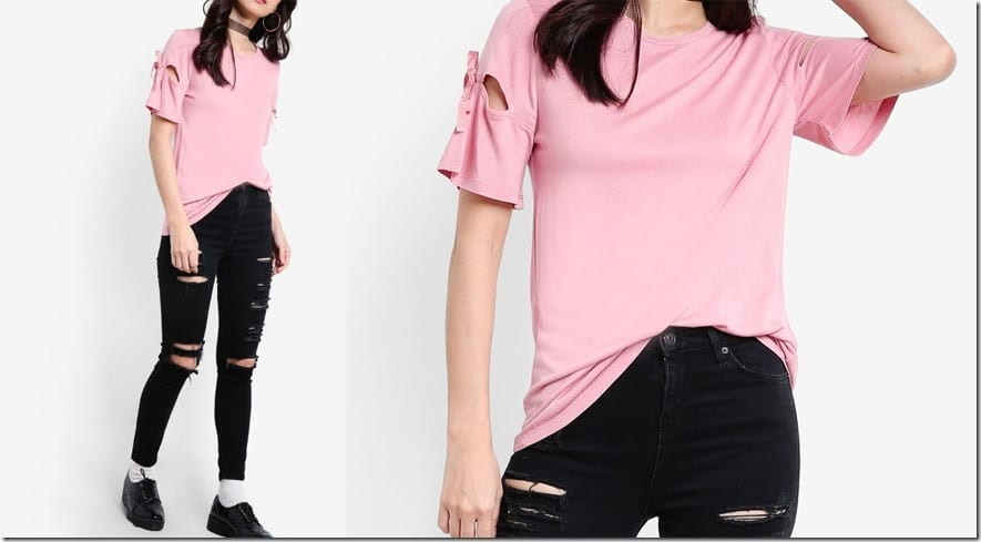 pink-ribbon-sleeve-tee