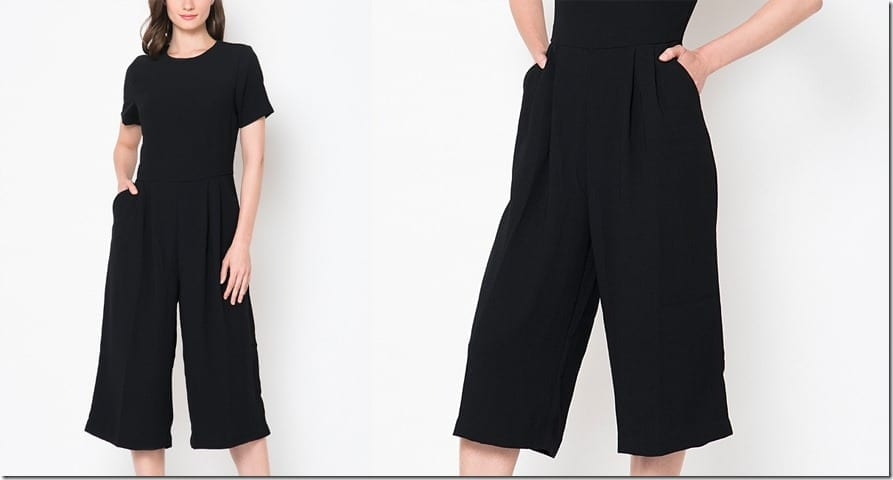 short-sleeve-black-culotte-jumpsuit