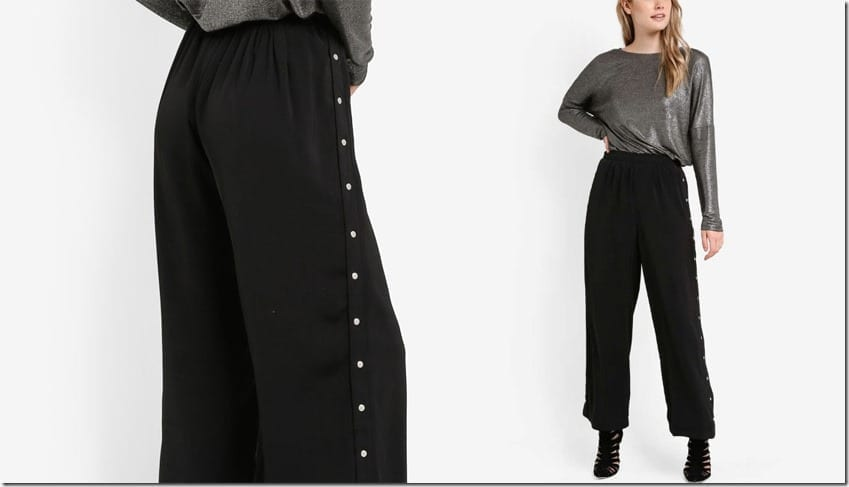 snap-button-flared-jogger-pants