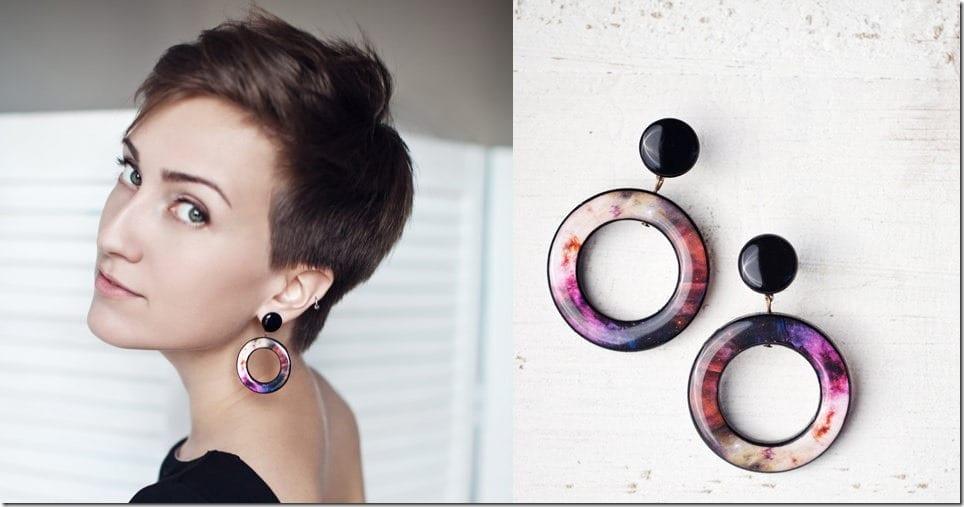 Space-Inspired Earrings Inspo