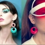 Fashionista NOW: Party Ear Statement In 60s Style Colored Hoop Earrings