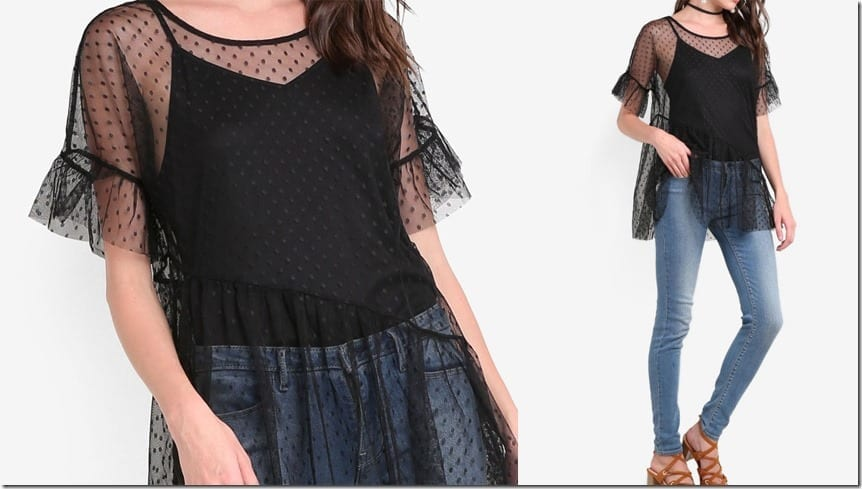 asymmetric-ruffle-mesh-top