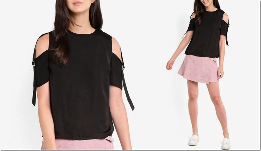 black-buckle-detail-cold-shoulder-top