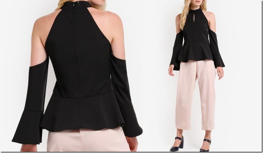 black-cold-shoulder-peplum-top