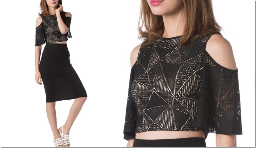 black-lace-crochet-cold-shoulder-crop-top
