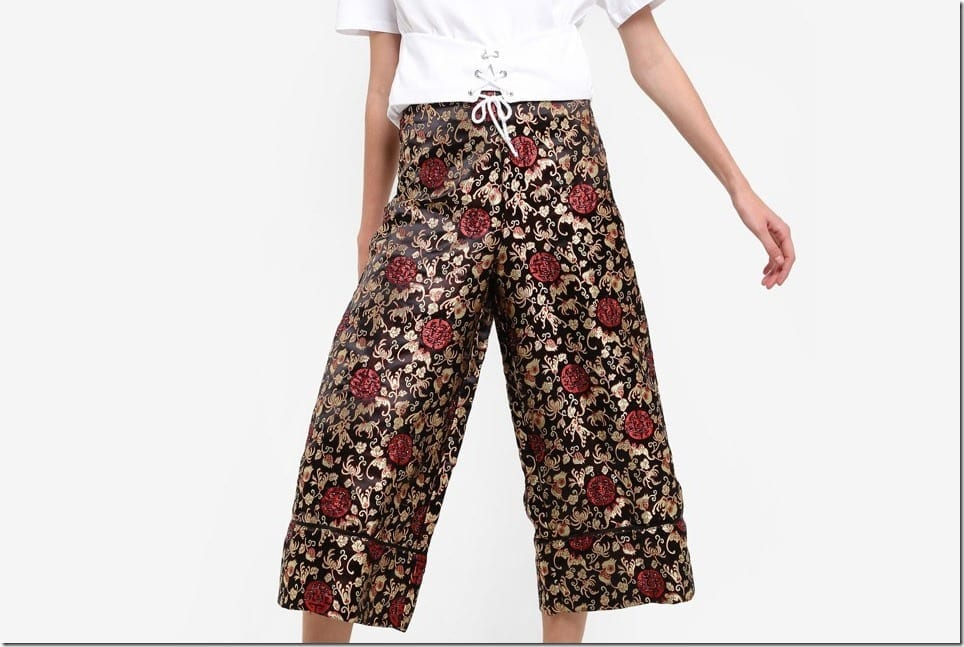 Floral Patterned Culottes For The Summer