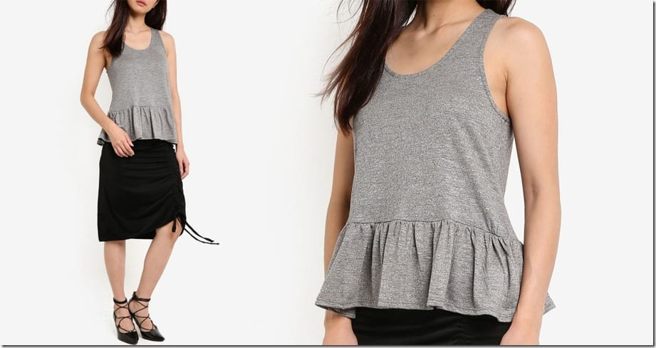 grey-peplum-tank-top