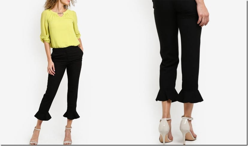 high-waist-frill-hem-crop-pants