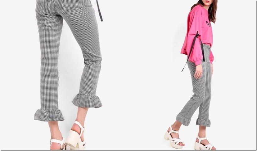 printed-frill-ruffle-hem-pants