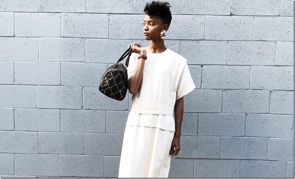 80s Vintage Minimalist Midi Dress Style Ideas