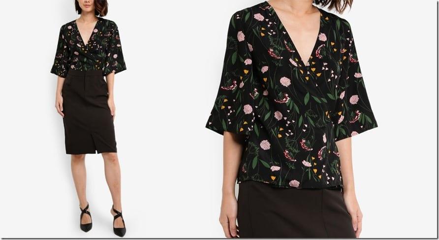 black-floral-tie-wrap-blouse