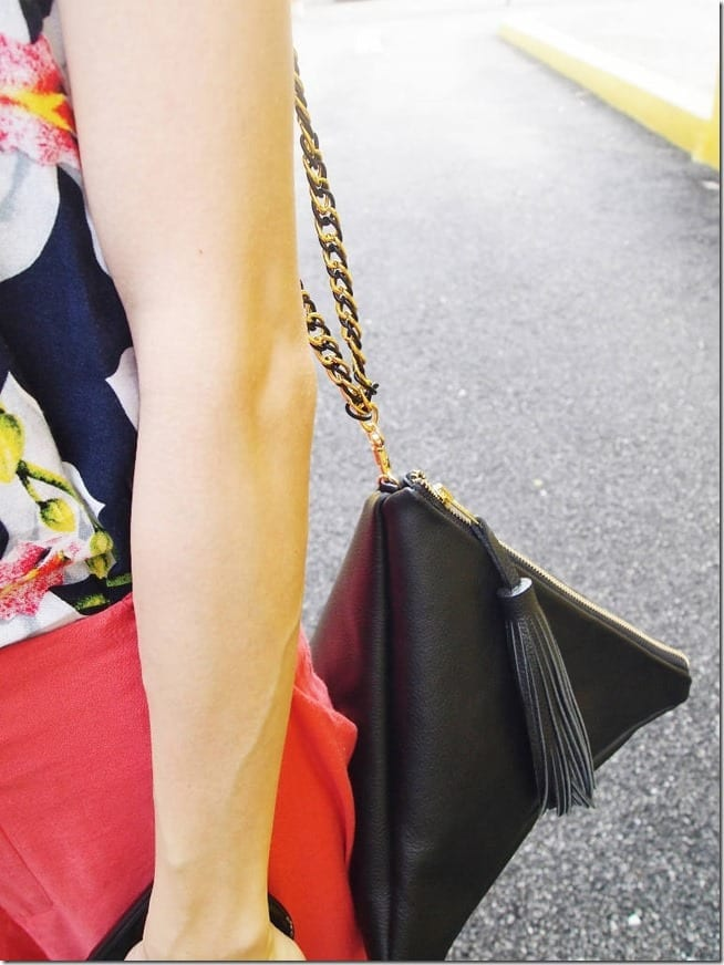 black-leather-triangle-bag