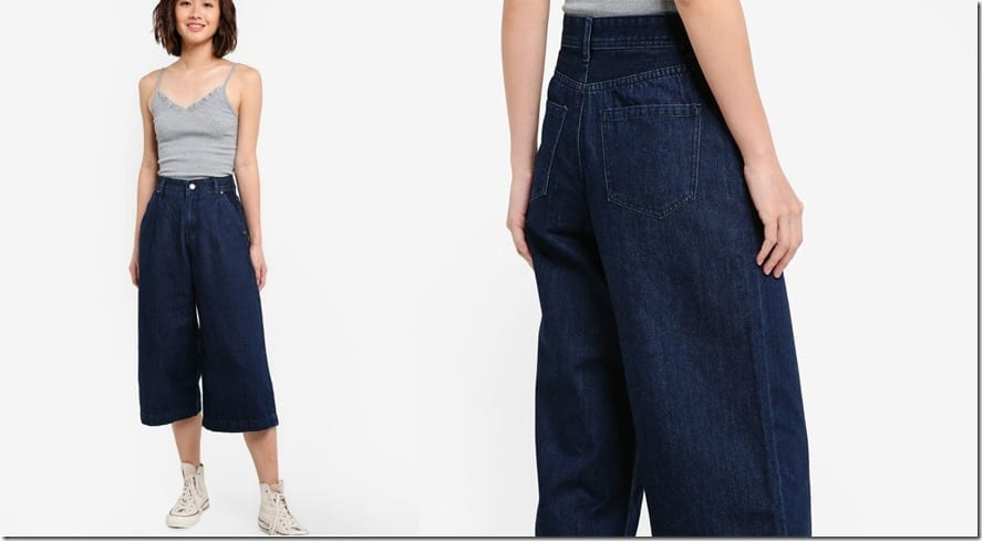 deep-blue-high-waist-denim-culottes