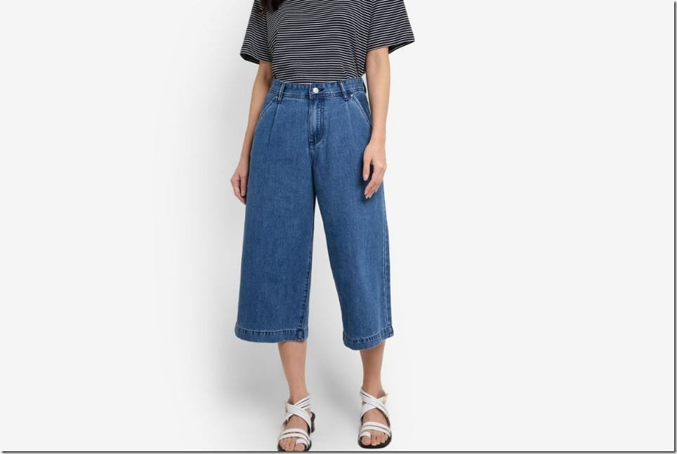 Denim Culottes For That Casual Retro Flare