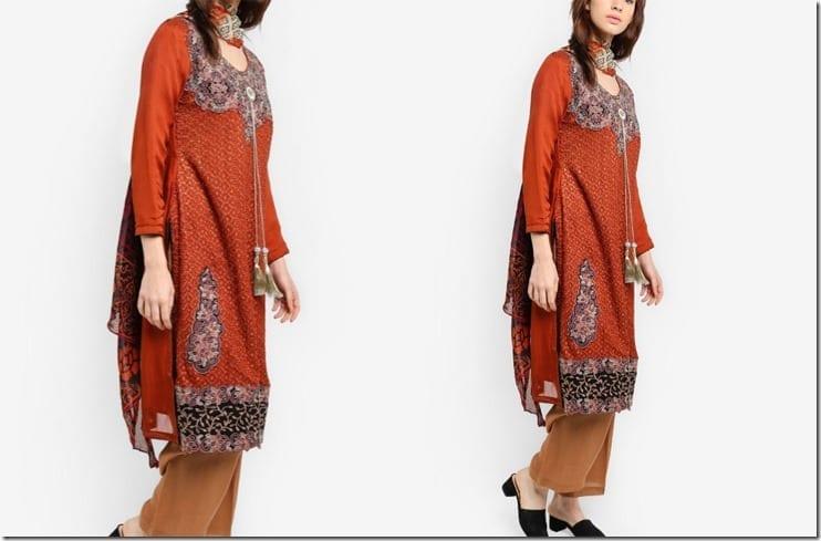 earthy-cinnamon-embroidered-kurti-set