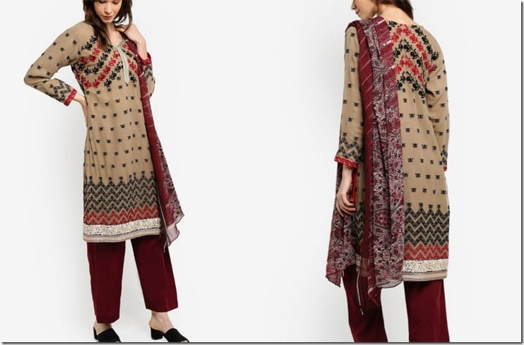 earthy-red-chiffon-embroidered-dress-shawl