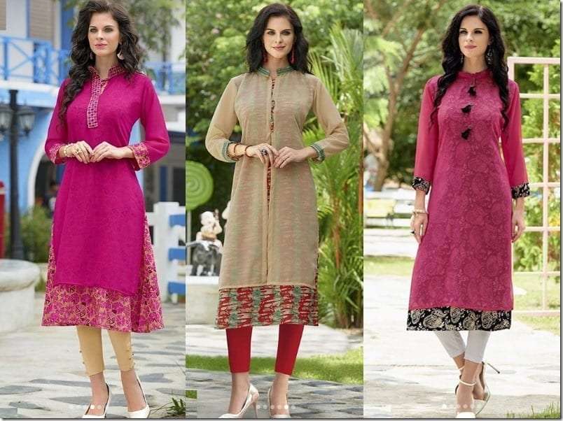 Embroidered Festive Kurti Style Ideas For Diwali 2017 Fashion Inspiration