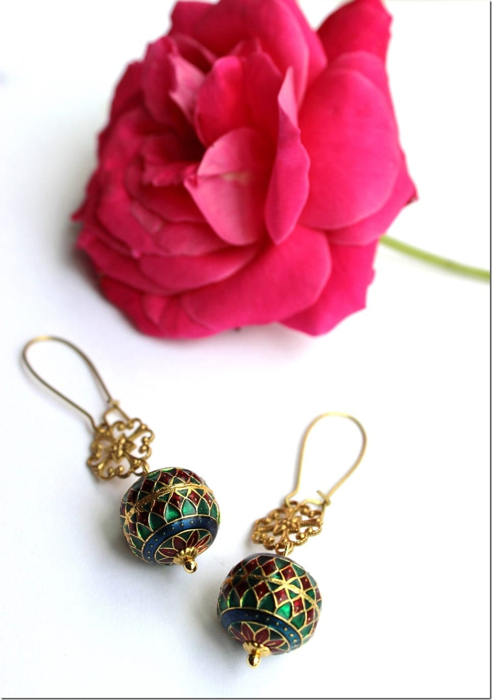 filigree-charm-enameled-beads-earrings