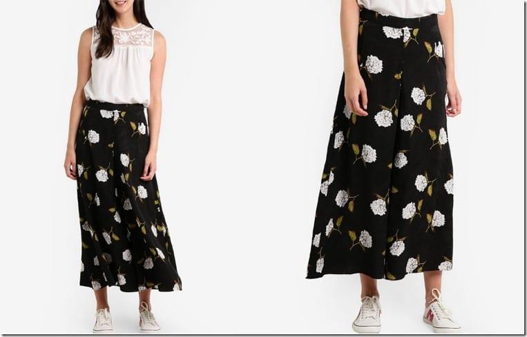 floral-print-monochrome-palazzo-pants