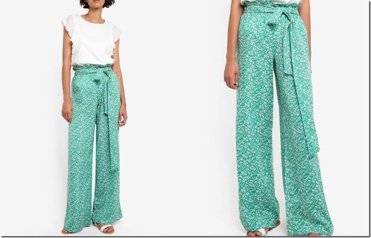 leaf-print-green-palazzo-pants