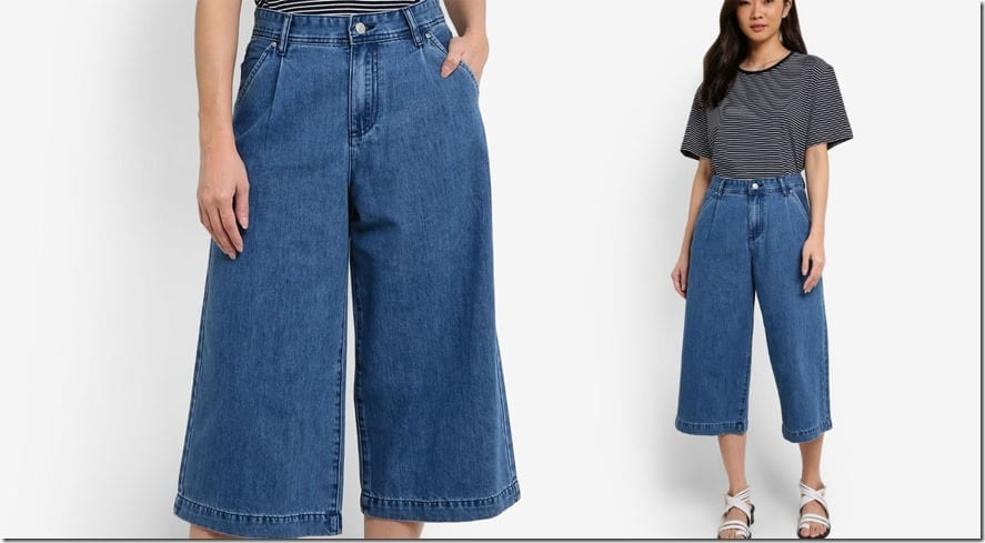 light-blue-high-waist-denim-culottes