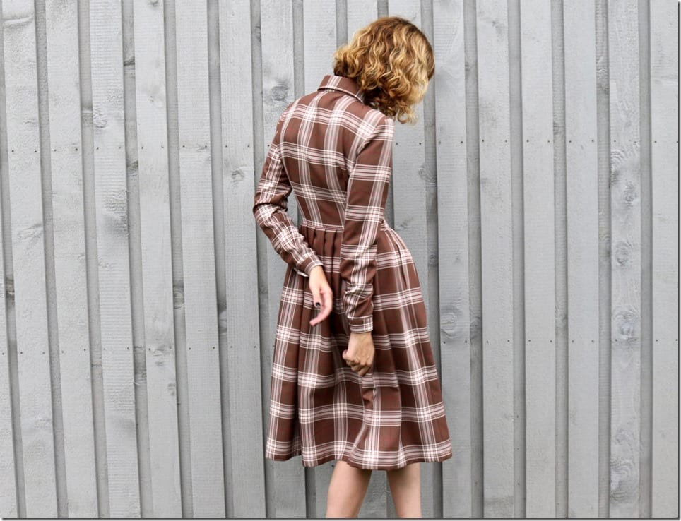long-sleeve-tartan-midi-dress