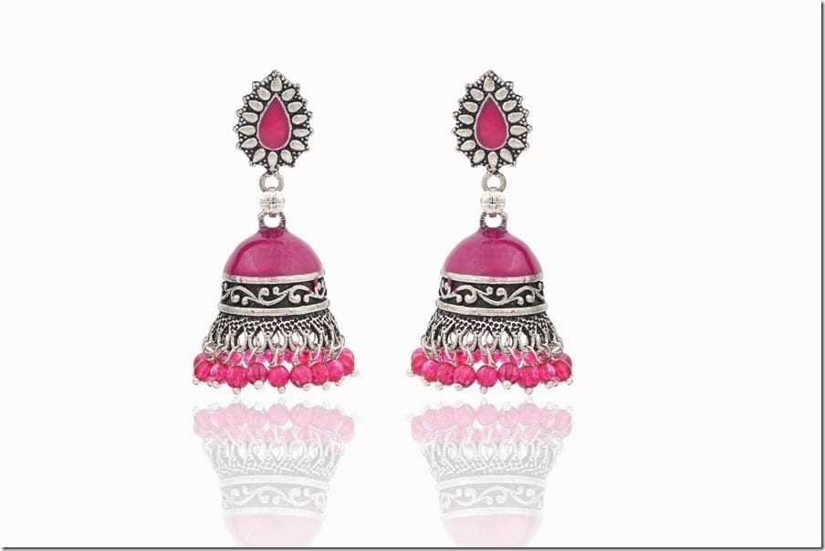 pink-boho-jhumka-earrings