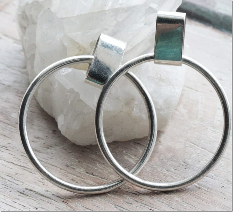 retro-90s-style-stud-hoop-earrings