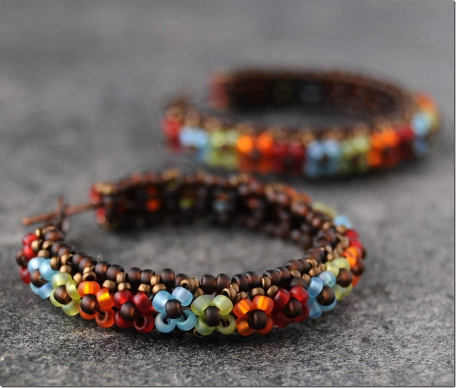 statement-boho-floral-beaded-hoop-earrings