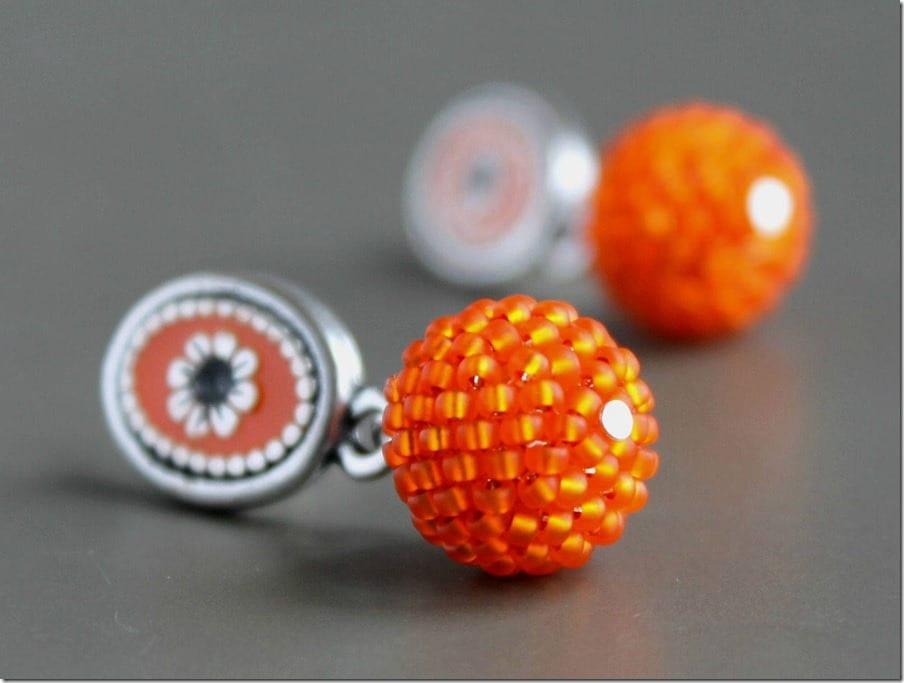 statement-orange-beaded-drop-earrings