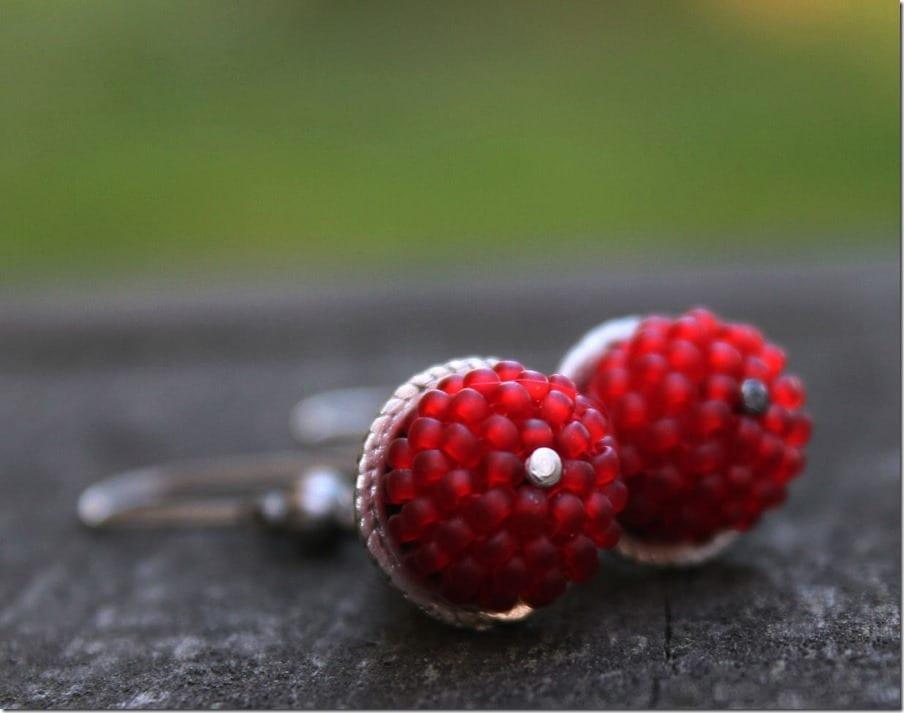 statement-red-beaded-boho-earrings
