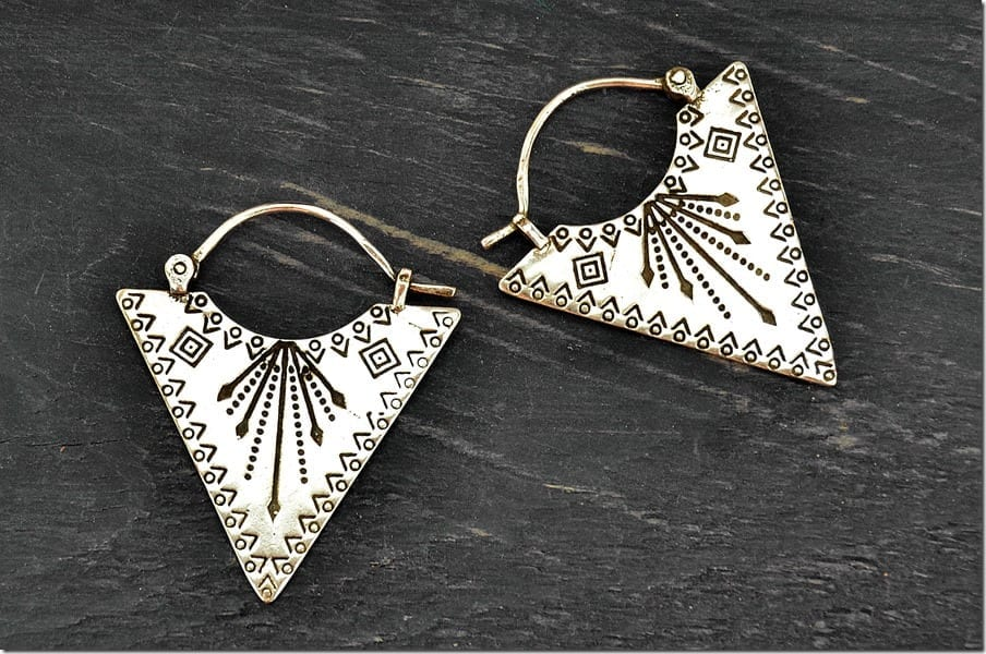 triangle-tribal-hoop-earrings