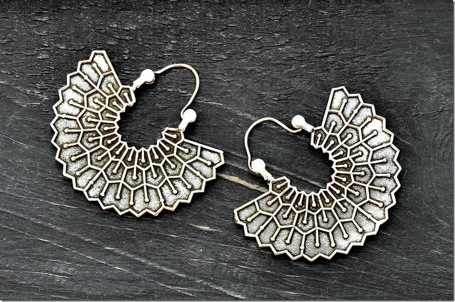 tribal-fan-hoop-earrings