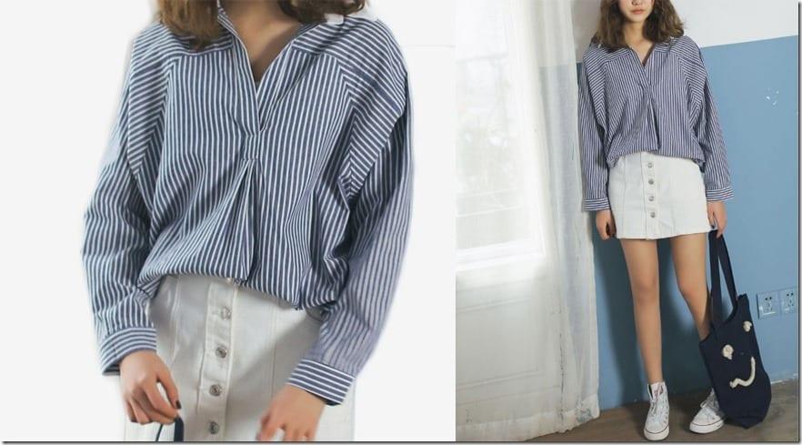 v-neck-stripe-shirt