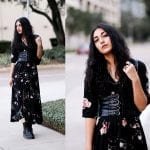 Fashionista NOW: Dark Floral Maxi Dress Styles To Slip Into