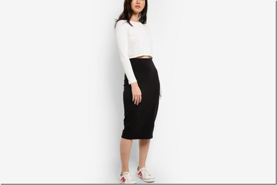 The Basic Bodycon Midi Skirt For Your Non Basic OOTD