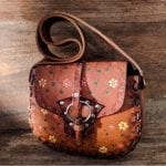 Fashionista NOW: Vintage Boho Brown Leather Bag Styles With Floral Work