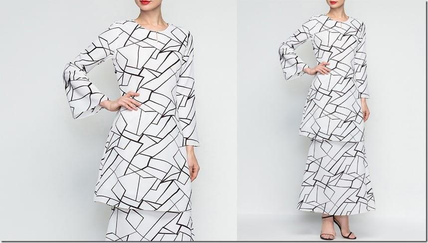 marble-print-modern-baju-kurung